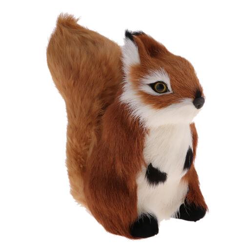 Lifelike Squirrel Pet Toy Animal Figurines Model Indoor Home Art Ornaments