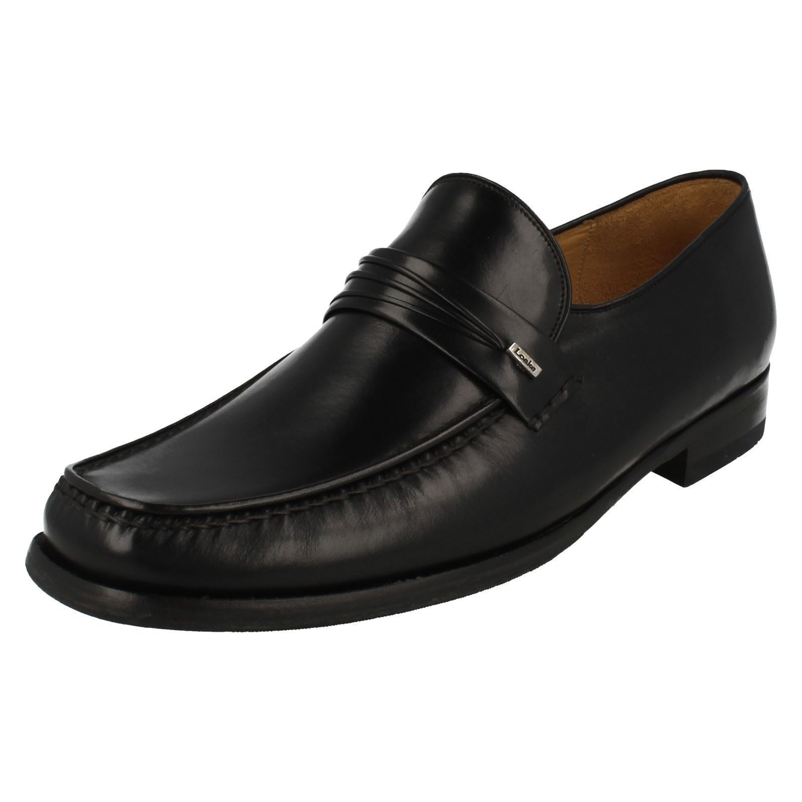 MENS LOAKE nero Leather  SMART FORMAL MOCCASIN SLIP SU SHOHE PALERMO 2  fino al 65% di sconto