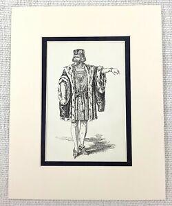 Antico Teatro Stampa Duca Frederick Shakespeare Personaggio Costume Ca. 1889