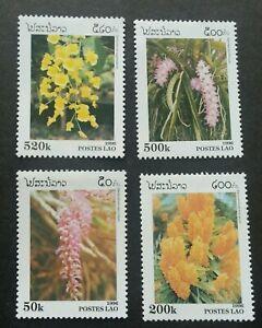 Laos-Flowers-1996-Flora-Orchids-Plant-stamp-MNH