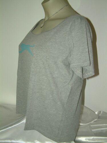 3XL grau NEU Slazenger Sport T-Shirt für die Frau mit Kurven Größe 2XL