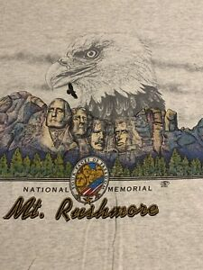 Vintage-90-s-Mount-Rushmore-Memorial-Double-Sided-1997-Mens-T-Shirt-Large-L