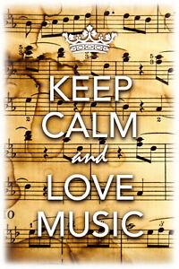 Keep-Calm-And-Love-Music-Panneau-Metallique-Plaque-Voute-Etain-Signer-20-X-30-CM