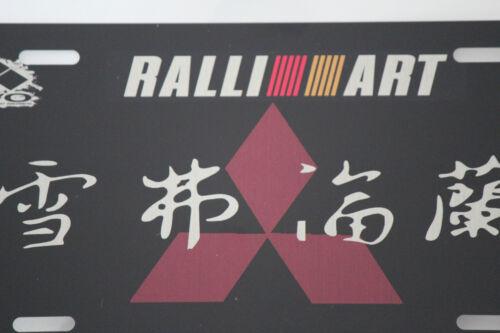 "Mitsubishi Evo Rallyart JDM ALUMINUM LICENSE PLATE 6x12/"""