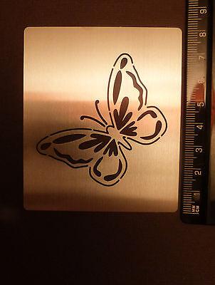 Stainless/Steel/stencil/Oblong/Ornate/Butterfly/Emboss/Oriental/PRETTY