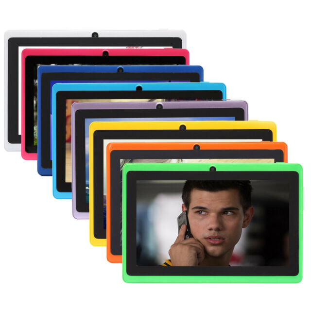 """iRULU New 7"""" eXpro X1 Tablet PC Android 4.4 KitKat Quad Core 16GB Multi-Color"""