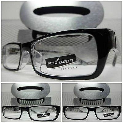 New CONTEMPORARY MODERN SOPHISTICATED Clear Lens EYE GLASSES Black Fashion Frame