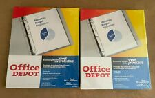 100 Lot 2 Packs Office Depot Top Loading Sheet Protectors Standard Weight Clear