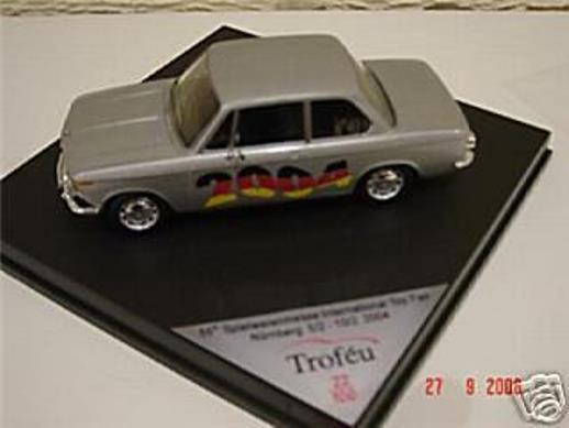 Raro Trofeu BMW 1602 Nuremberg Juguete Show 2004 Plata 1 43 obsoleto MB 1 100