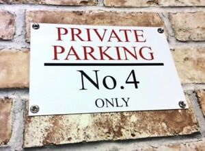 PERSONALISED-QUALITY-PRIVATE-NO-PARKING-METAL-SIGN-WEATHERPROOF-25CM-X-17CM