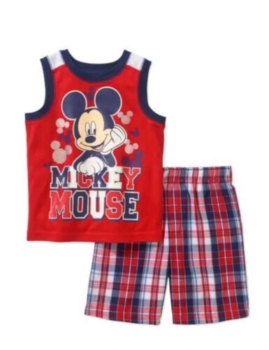 Disney Mickey Mouse Toddler Boy/'s 2 Piece Shirt /& Shorts Set Size 4T New NWT Red