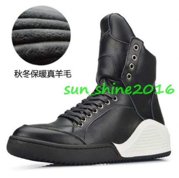 Homme britannique en Cuir Véritable Haut Top Baskets Board Athlétique Baskets chaussures décontractées