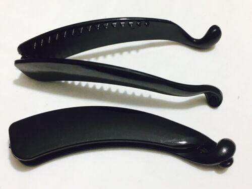 Simple Noir Banane Cheveux Poisson Clip Peigne Banane Pince Grip Accessoires 2