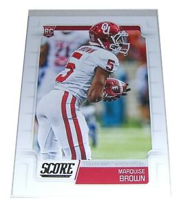 Score 2019 MARQUISE BROWN Oklahoma Wide Receiver Rookie NFL Football Card #347