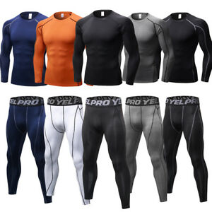 Men Compression Wear Athletic Running Sports suit Long Pants Base Layers Dri fit
