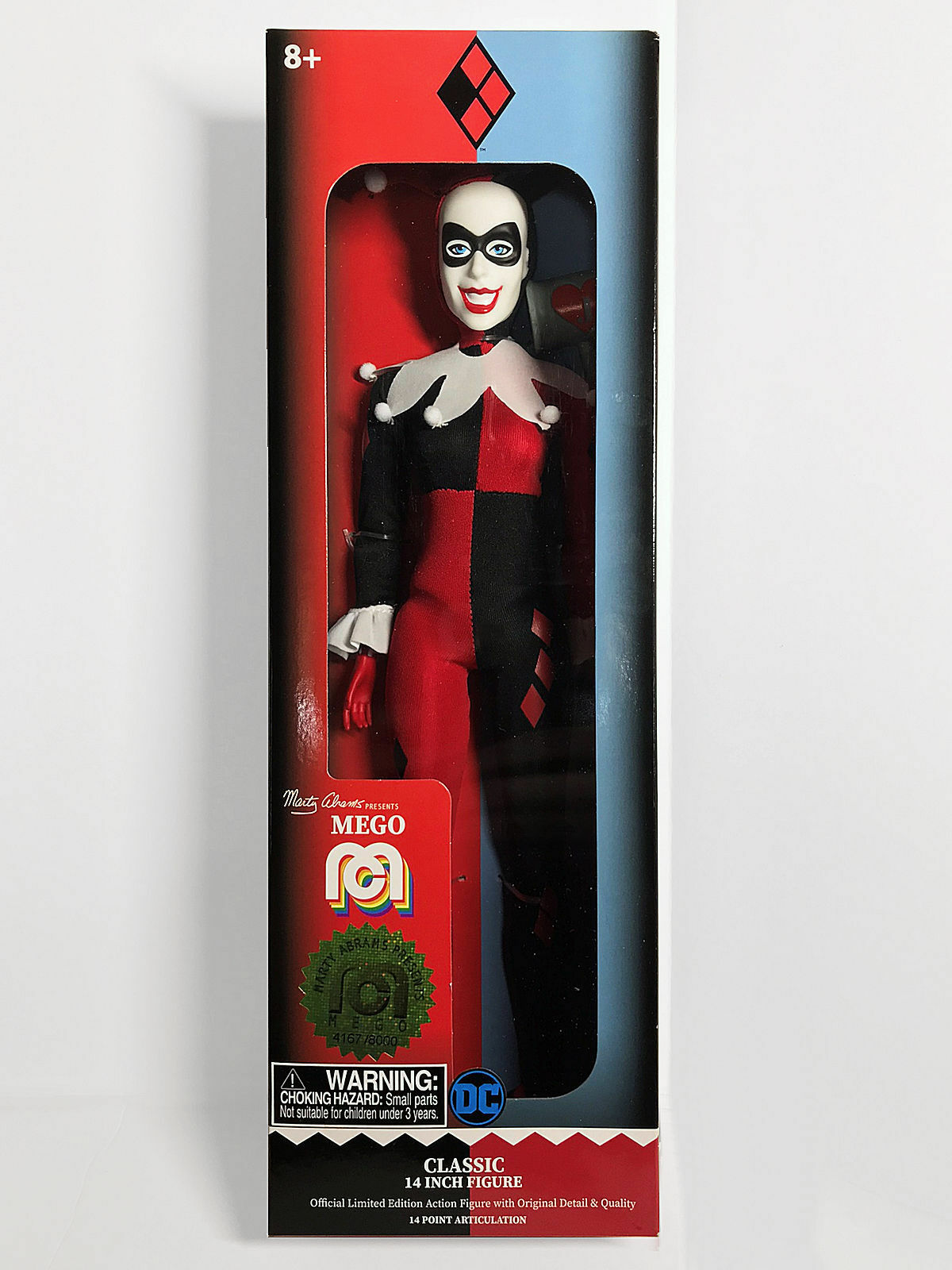 Mego Limited Edition Harley Quinn Classic Action Figure 14-inch 4167 8000