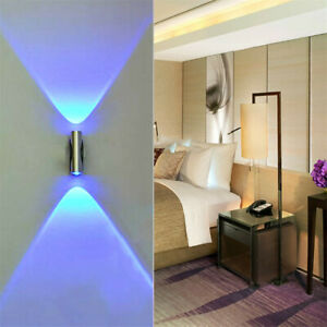 Details About Double Headed Led Wall Lamp Home Sconce Bar Porch Decor Ceiling Light Blue