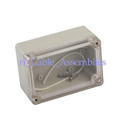 Waterproof Clear Cover Plastic Electronic Project Box Enclosure CASE 100x68x50mm
