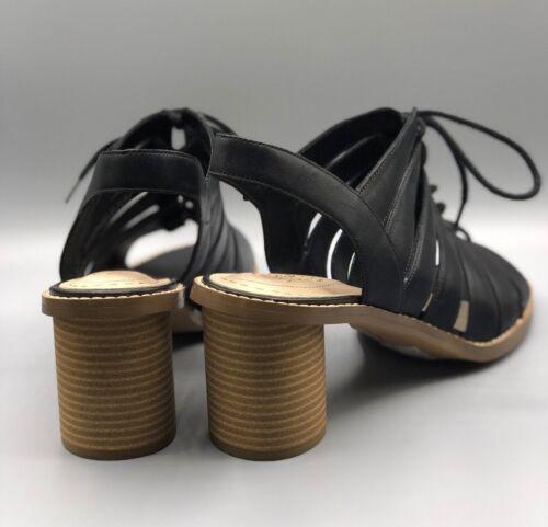 donna pelle D tacco 7 basso New Sandali nera in con Uk Clarks Ice da tacco glacier pqwvgx01w