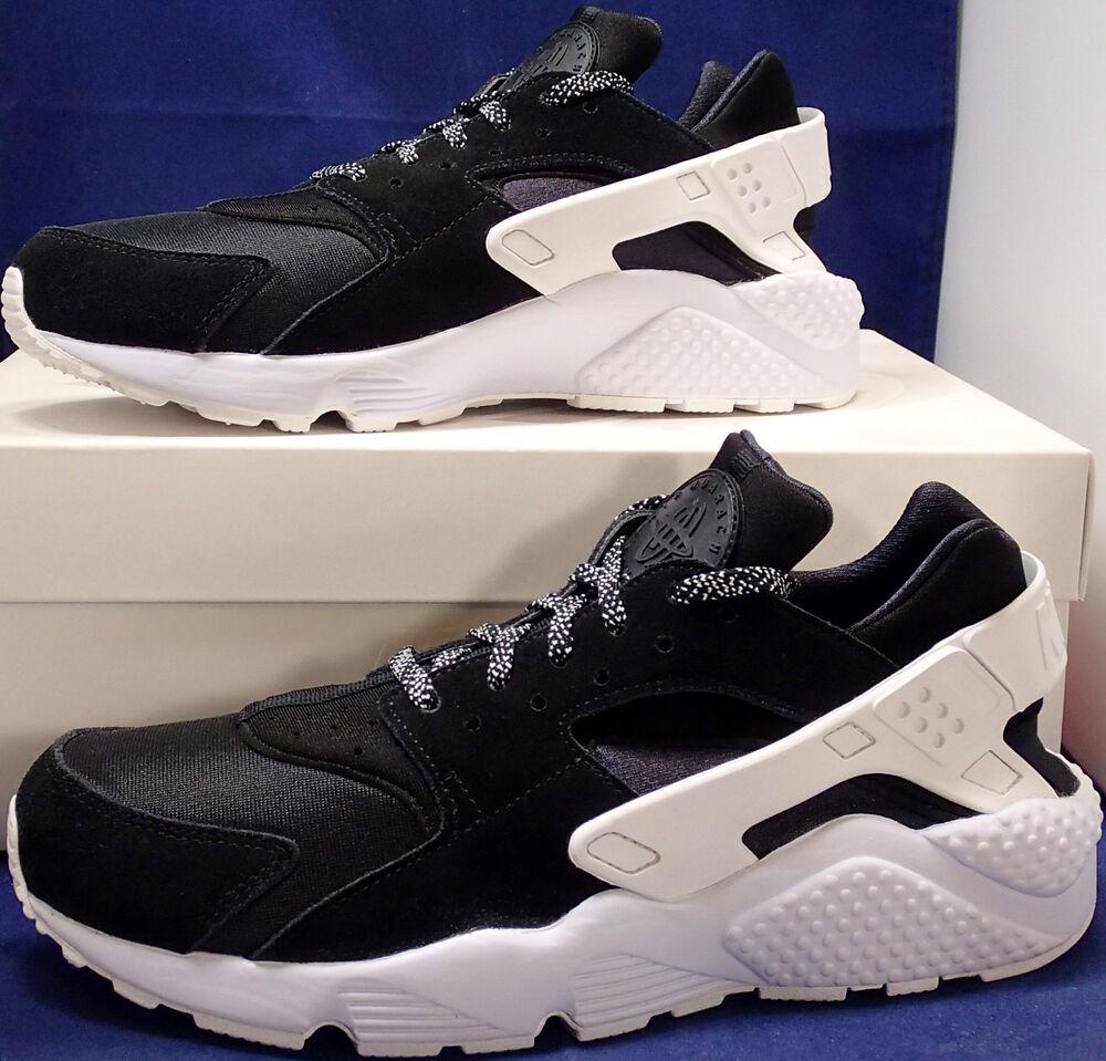 Nike Air Huarache Run iD BLANC Noir Homme  Chaussures de sport pour hommes et femmes