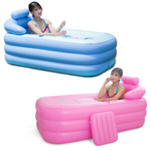 Image Is Loading Blowup Adult Spa PVC Folding Portable Bathtub Warm