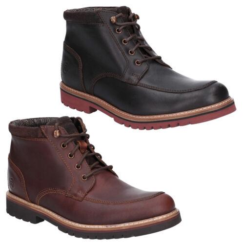Rockport Marshall Bottines Robuste Mocassins Toe à Lacets en Cuir Homme Chaussures
