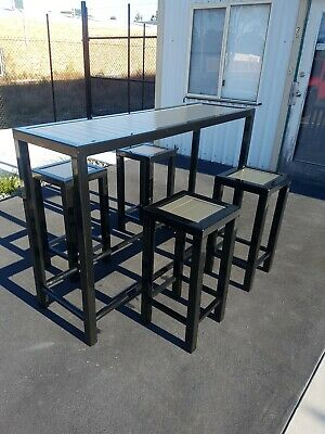Outdoor Bar Table And Stools Set