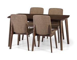 Julian-Bowen-Kensington-Walnut-Extending-Dining-Table-amp-4-Chairs-Solid-Wood
