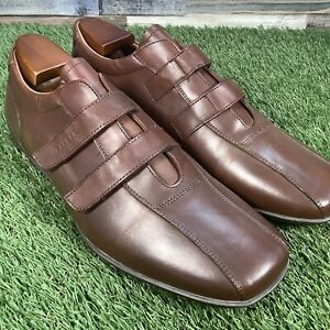 UK10-Barker-Strap-Trainers-Made-In-Italy-High-End-Designer-Shoes-RRP-150