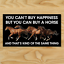 1 YOU CAN/'T BUY HAPPINESS HORSE Sticker Window Decal Car Auto Dressage Riding