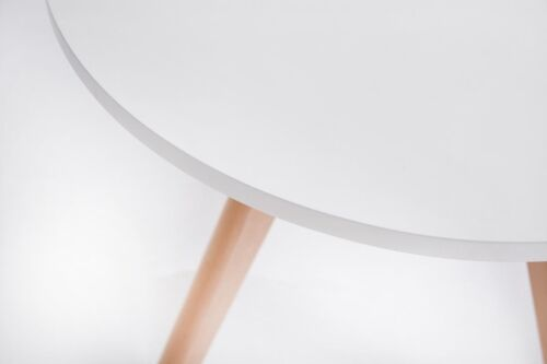 Couchtisch Weiß Rund Wohnzimmertisch Moderner Beistelltisch Design