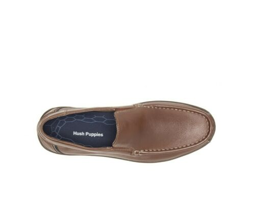 Hush Puppies Men/'s Toby Venetian Saddle Brown Leather Shoes