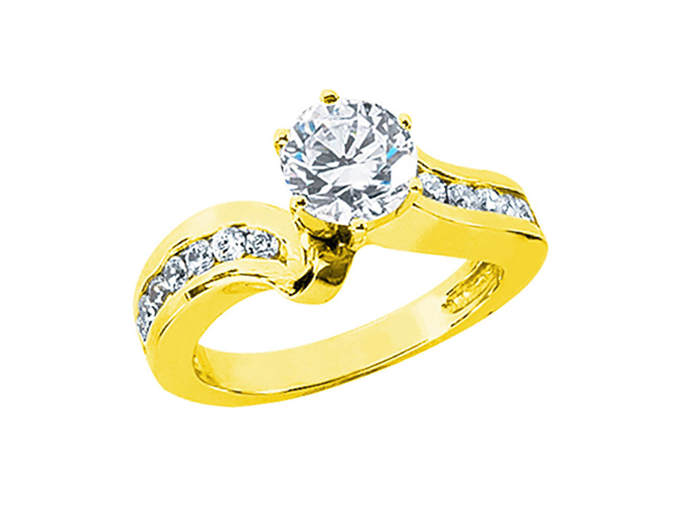 1.00Ct Round Cut Diamond Women's Bridal Engagement Ring Solid 14k gold IJ I1