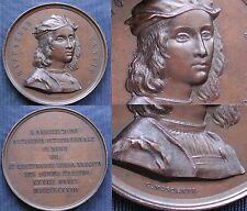 MEDAGLIONE 1883 RAFFAELLO SANZIO ASSOCIAZIONE ARTISTICA DI ROMA IV° CENTENARIO