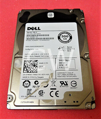 "Dell U706K 300GB 10000RPM 6Gb//s 2.5/"" SAS Hard Drive MBD2300RC"