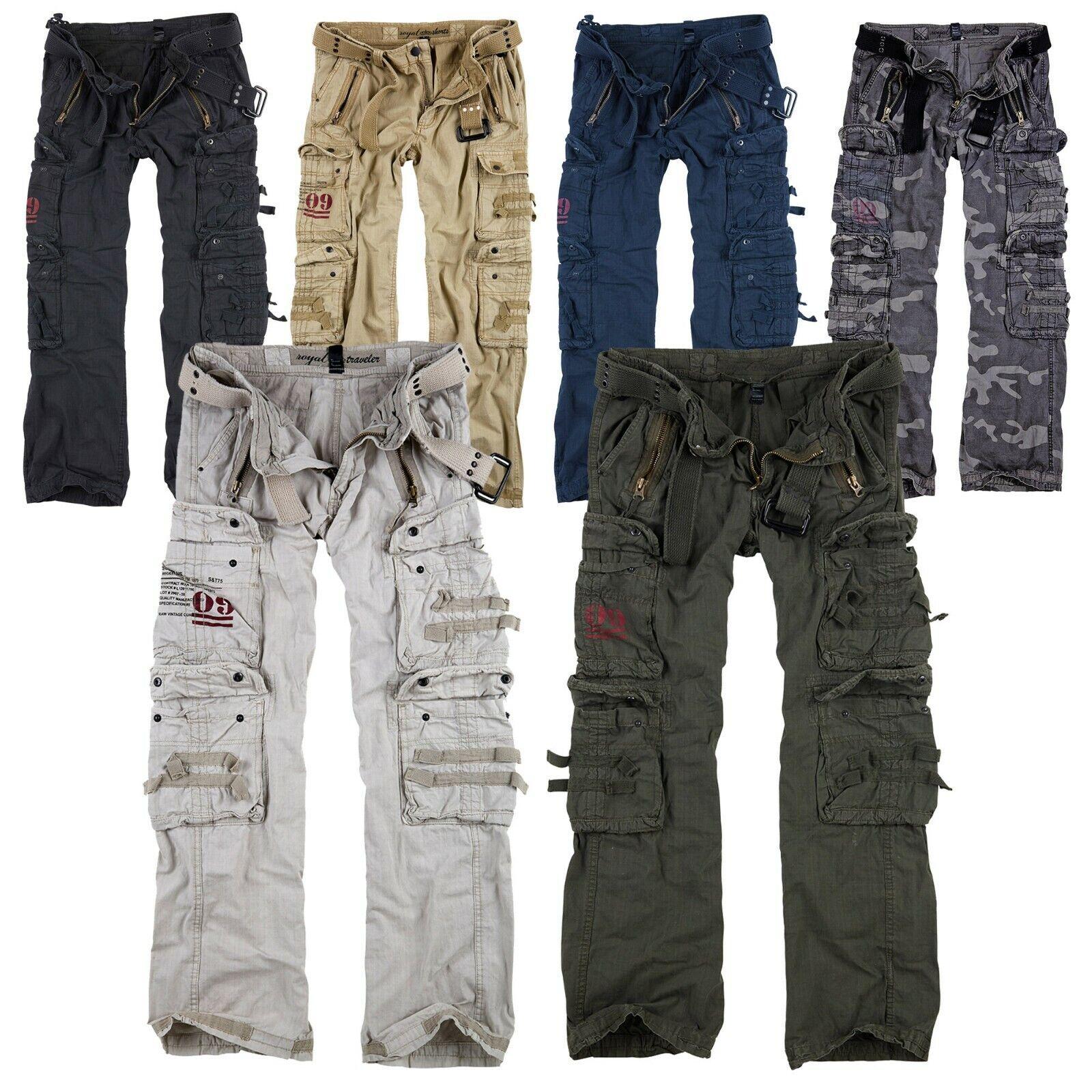 Surplus Raw Vintage Royal Traveler Trousers Premium Cargo Pants Airborne