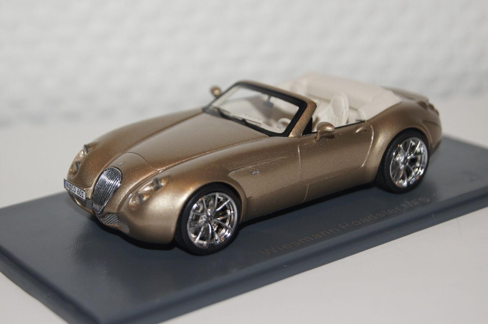 Wiesmann Roadster mf5 oro METALLIC 1:43 Neo NUOVO & OVP 44601