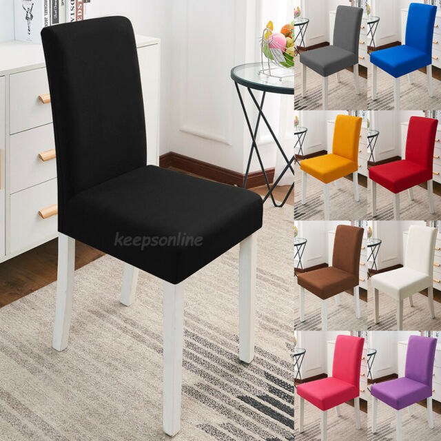 1//4//6Pcs Stretch Chair Covers Slipcovers Dining Room Wedding Banquet Party Decor