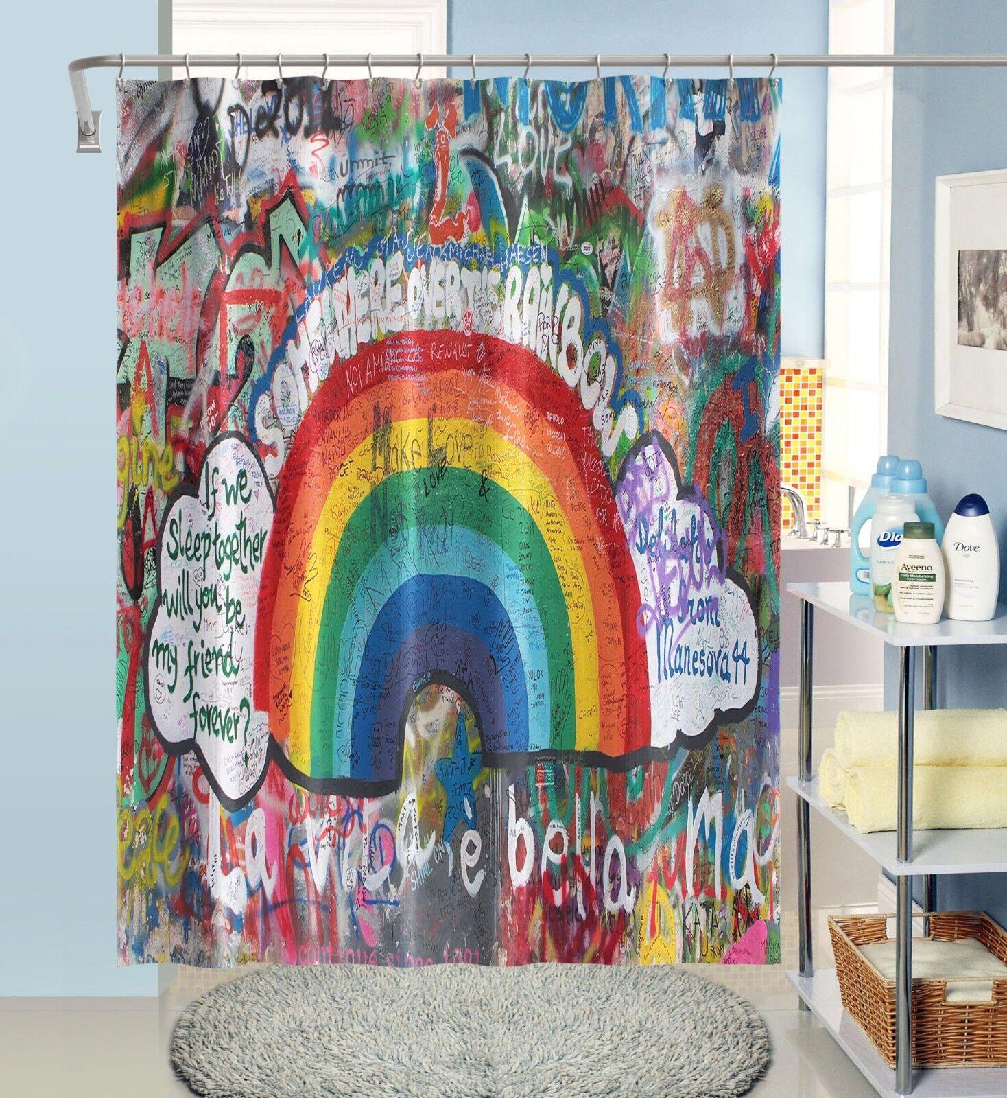 3D Graffiti Wand 1 Duschvorhang Wasserdicht Faser Faser Faser Bad Daheim Windows Toilette DE | Outlet Store Online  c0afe1