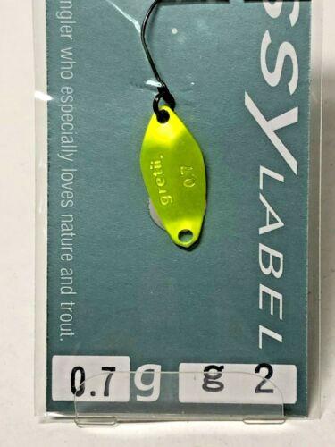 1568 SSY LABEL Gretii KUWASE 0.7g Trout spoon Color variations Sale Restock!