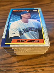 (90) 1990 Topps #431 Randy Johnson Seattle Mariners NM-MT+ Lot