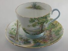 Vintage Shelley Tea Cup & Saucer Woodland