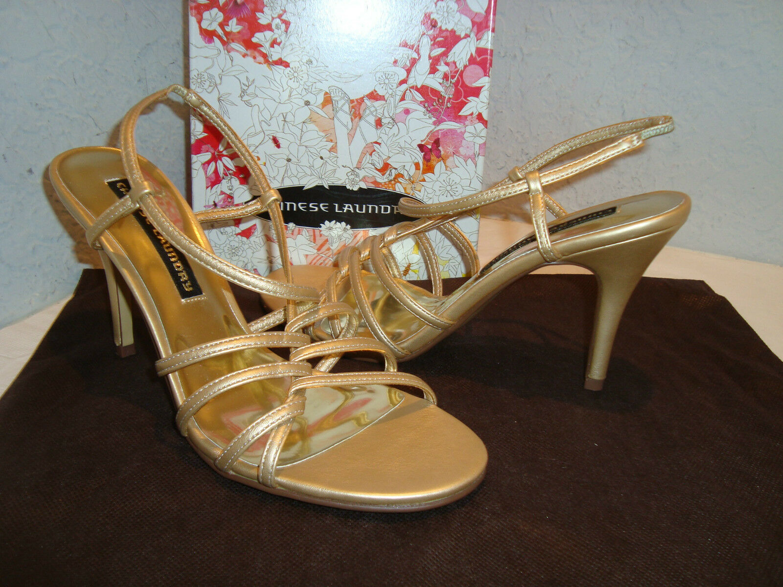 New Chinese Sandals Laundry Womens Sofia Gold Sandals Chinese Shoes 8.5 Medium 7eb243