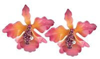 Joan Rivers Orchid Clip On Earrings