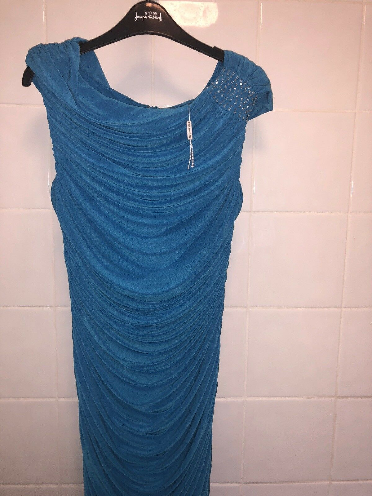 Ladies Stunbing Designer Evening Evening Evening Dress Bnwt  Gina Bacconi 0d1ad5