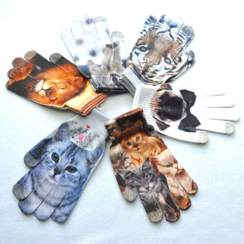 Warm 3D Tier Obst Stricken Handschuhe Touchscreen Unisex Handschuhe Geschenk HQ