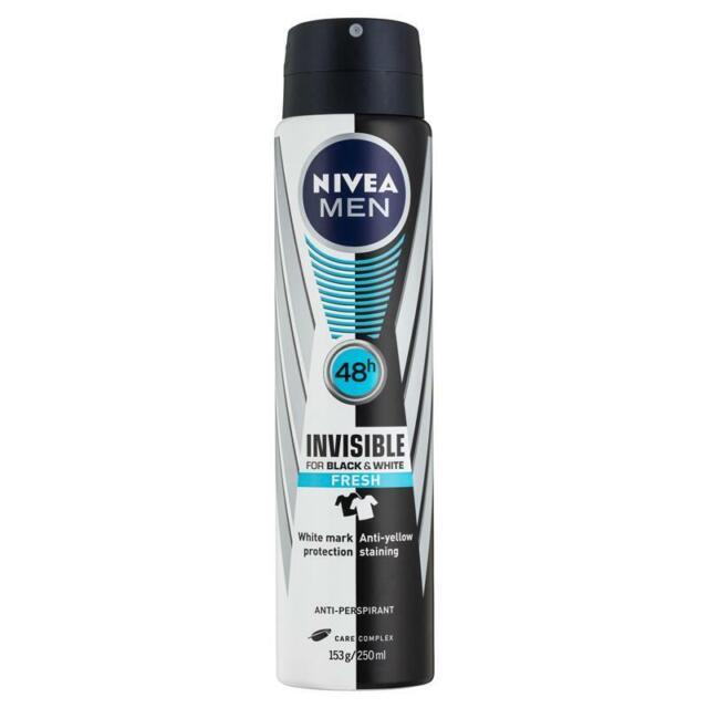 Nivea Invisible Black & White Anti-Perspirant Deodorant Spray For Men (Fresh)...