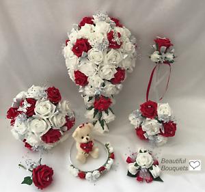Bouquet Sposa Rosso.Bouquet Sposa Rosso Farfalla Fiori Sposa Damigella Fiore Ragazza