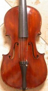4/4 Violine, altes Instrument aus Böhmen, angeschäftet, Geige