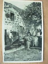 VINTAGE WWII POSTCARD HOUSE OF SIMON THE TANNER JAFFA PALESTINE 1945